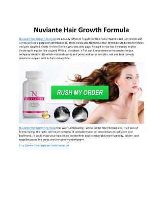 Nuviante Reviews - Take Trial For Longer & Stronger Hair