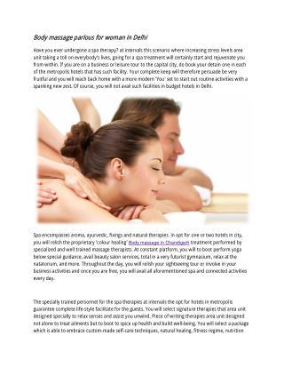Body massage parlous for woman in Delhi
