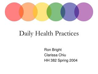 Daily Health Practices