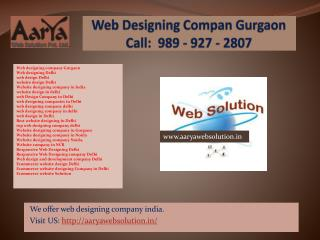 Website designing company in India, Web designing Delhi, Website designing company in Gurgaon