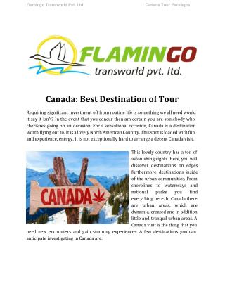 Best Destination of Canada Tour
