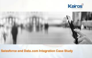 Salesforce and Data.com Integration Case Study