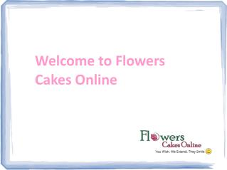 Buy Cakes Online at flowerscakesonline.com