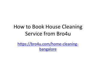 House cleaning Service in Bangalore