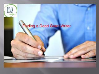 Finding a Good Grant Writer