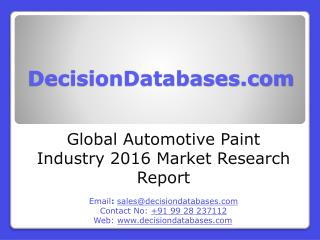 Global Automotive Paint Industry 2016 Market Research Report