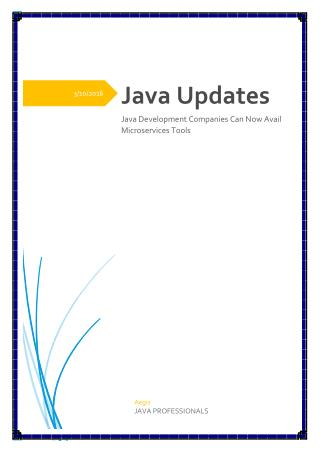 Java Development Companies Can Now Avail Microservices Tools