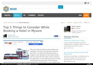 Top 5 Things to Consider While Booking a Hotel in Mysore
