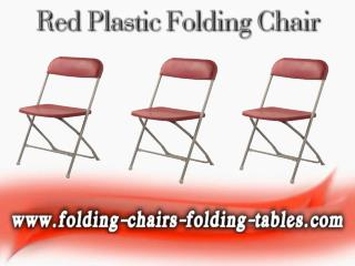 Red Plastic Folding Chair - Larry Hoffman Chair