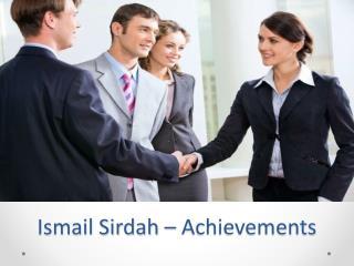 Ismail Sirdah – Achievements