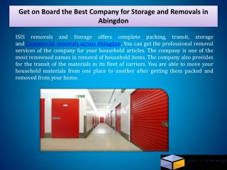 Get on Board the Best Company for Storage and�Removals in Abingdon