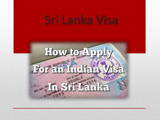Sri Lanka Online Visa for Indians