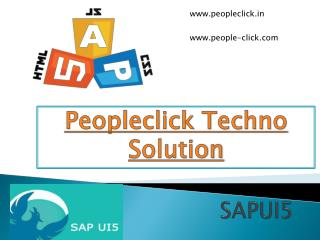 SAPUI5 training in bangalore by experienced professionals