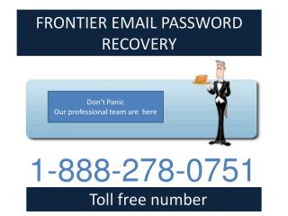 1-888-278-0751 Frontier Email Password Recovery Phone Number