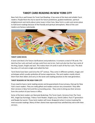 Tarot Card Reading In New York City
