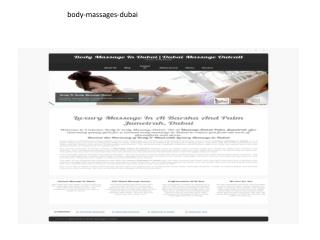 Body massages-dubai
