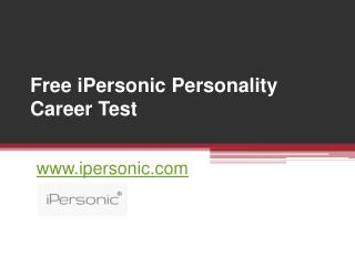 Online iPersonic Personality Career Test - www.ipersonic.com