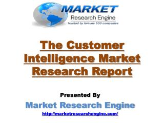 The Customer Intelligence Market is Expected to Grow at a CAGR of 20.4% during the period 2015-2020