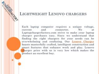 Lightweight Lenovo chargers