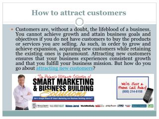 How to attract customers