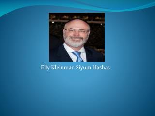 Elly Kleinman Siyum Hashas
