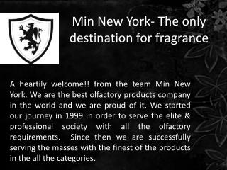 Min New York- the only destination for fragrance