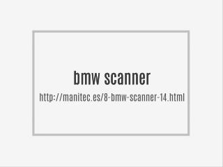 bmw scanner