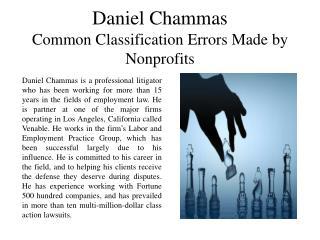 Daniel Chammas Common Classification Errors Made by Nonprofits