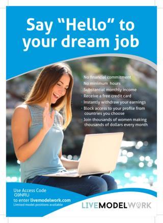 Get Ready For Webcam Models Dream Job