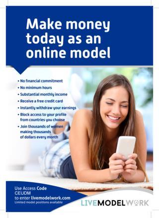 Make Money Online As Webcam Models