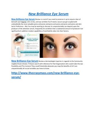 New Brilliance Eye Serum Best Eye Care