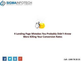 Landing Page Mistakes You Probably Didn�t Know Were Killing Your Conversion Rates