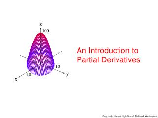 An Introduction to Partial Derivatives