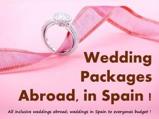 wedding packages abroad prices
