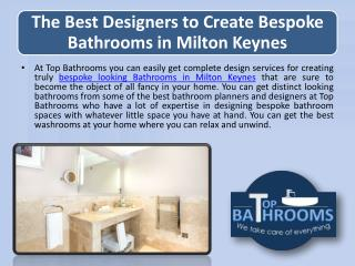 The Best Designers to Create Bespoke Bathrooms in Milton Keynes