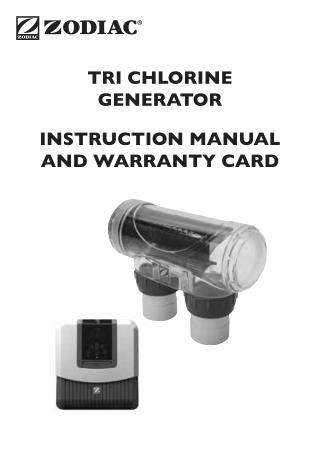 TRi Chlorine Generator Manual -Zodiac Pool