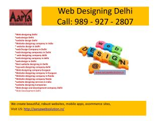 Web Designing Delhi, Website Design In Delhi
