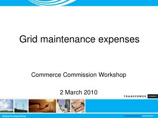 Grid maintenance expenses