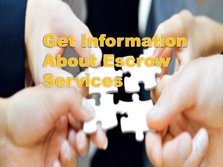 Get Information About Escrow Services