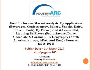 Food Inclusion - Size, Share and Market Forecasts 2020