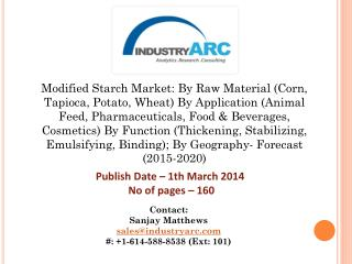 Modified Starch Market Share Report