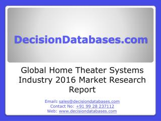 Global Home Theater Systems Industry Share and 2021 Forecasts Analysis