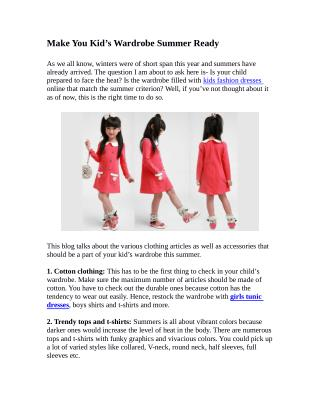 Make You Kid's Wardrobe Summer Ready