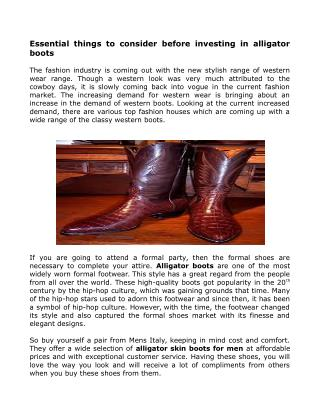 Alligator Leather Skin Boots