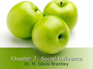 Chapter 7: Social Influence