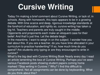 Cursive Writing Books
