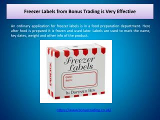 Freezer Labels from Bonus Trading is Very Effective