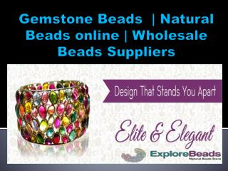 Gemstone beads online, Explorebeads, Natural gemstone beads