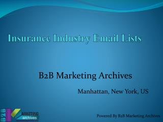 Insurance Industry Email Lists