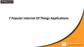 7 popular internet of things applications